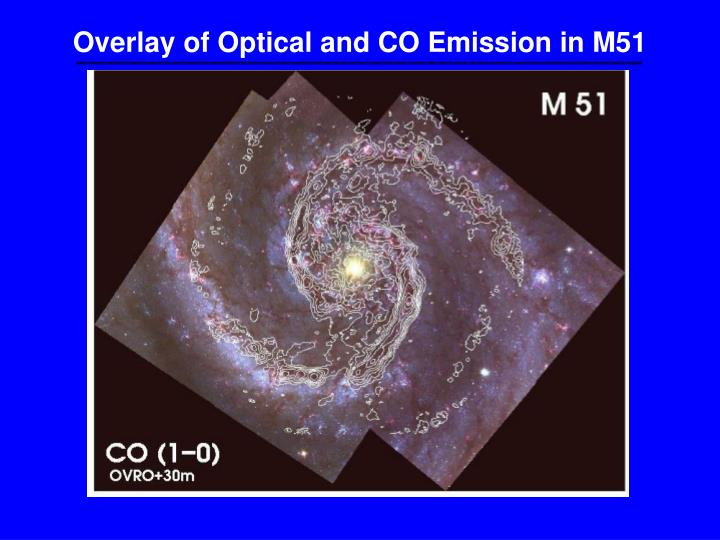 Overlay of Optical and CO Emission in M51