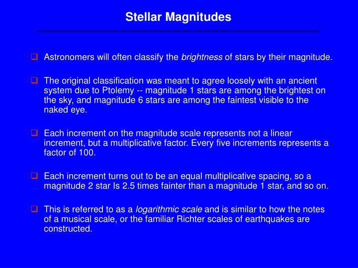 Stellar Magnitudes