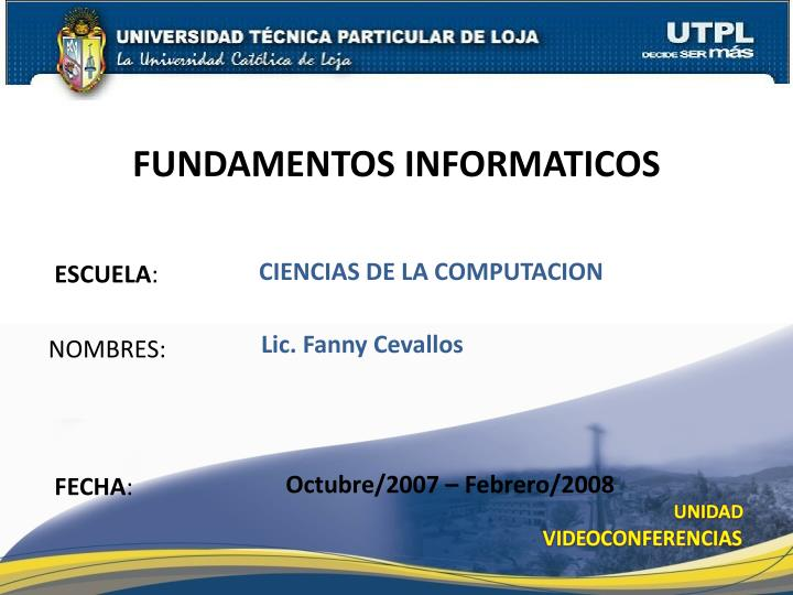FUNDAMENTOS INFORMATICOS