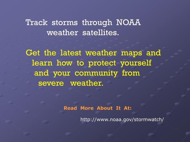 Track  storms  through  NOAA