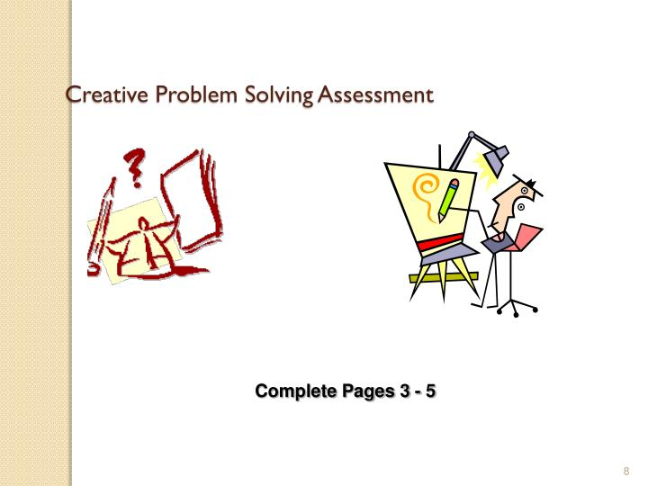 Creative Problem Solving Assessment
