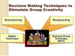 decision making techniques to stimulate group creativity
