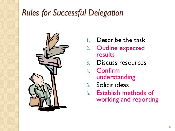 Rules for Successful Delegation