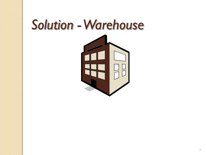 Solution - Warehouse