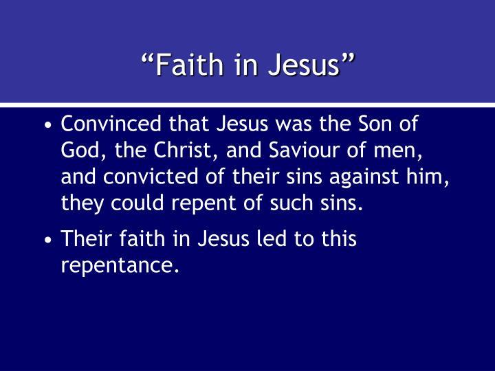 """""""Faith in Jesus"""""""