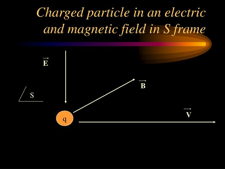 Charged particle in an electric and magnetic field in S frame
