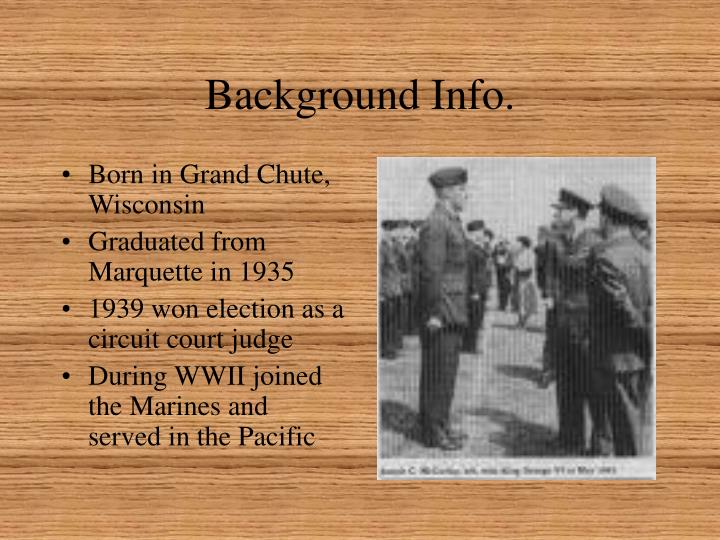 Background info