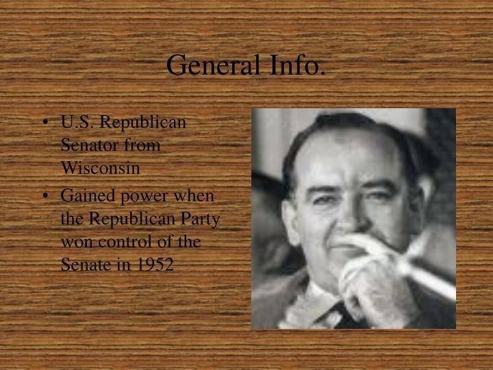 General Info.