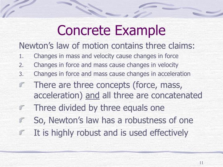Concrete Example