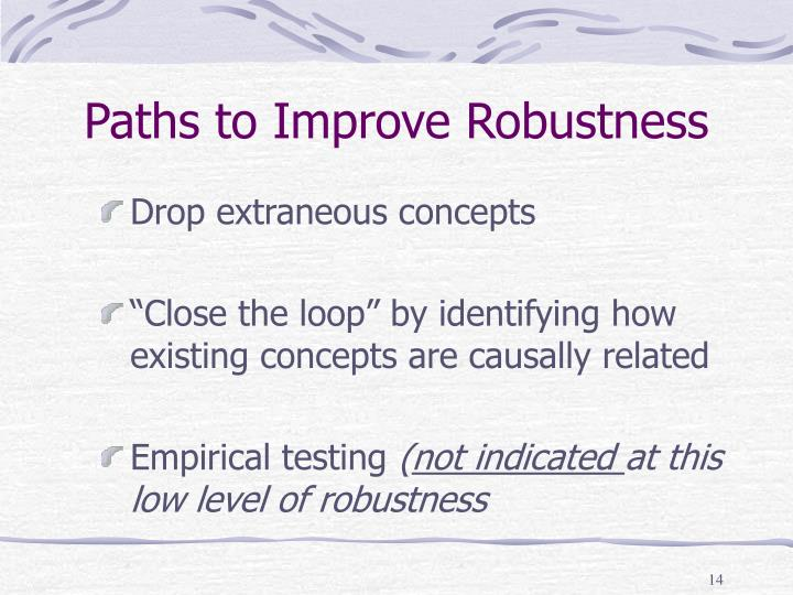 Paths to Improve Robustness