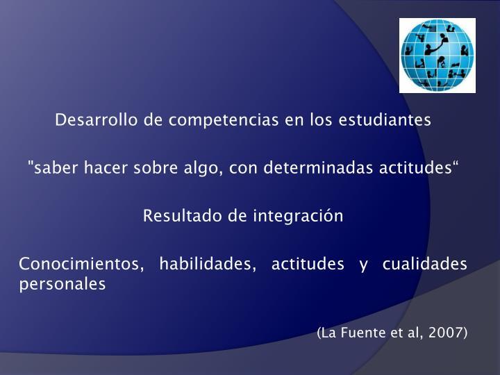 Desarrollo de competencias en los estudiantes
