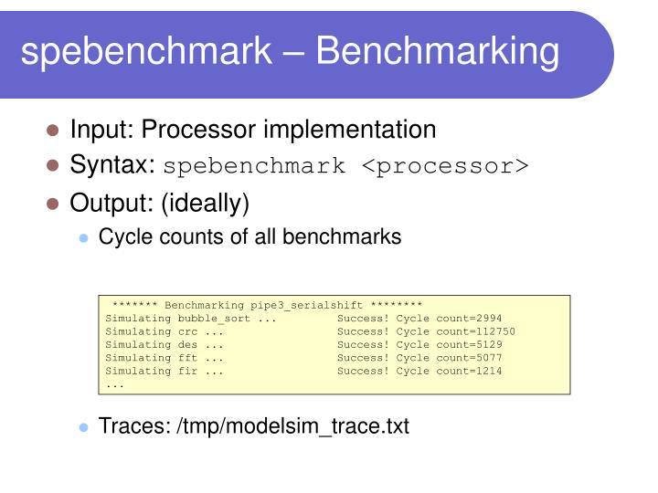 spebenchmark – Benchmarking