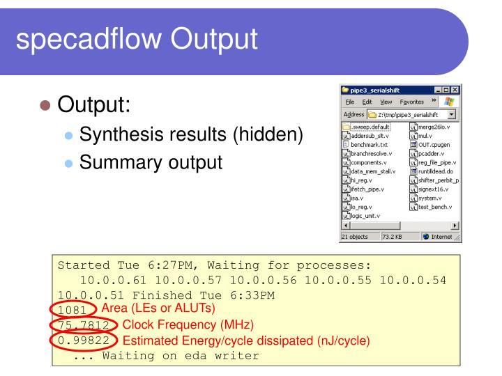 specadflow Output