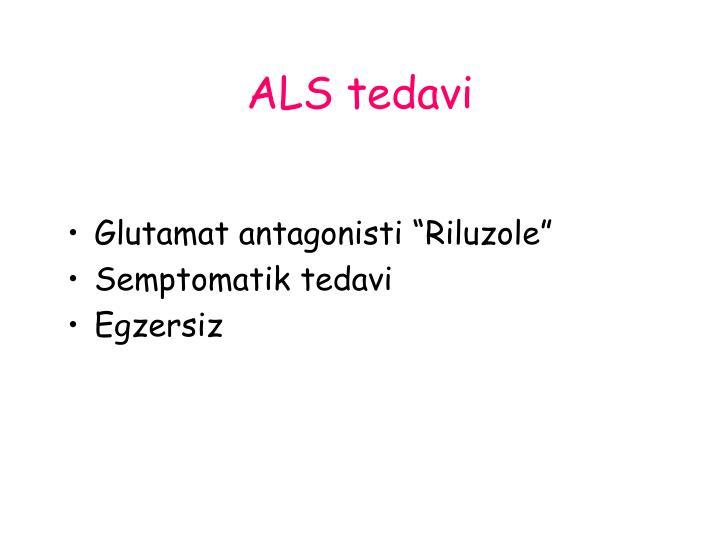 ALS tedavi