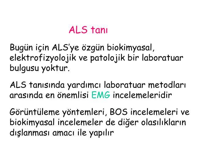 ALS tanı