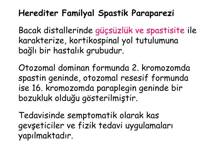 Herediter Familyal Spastik Paraparezi