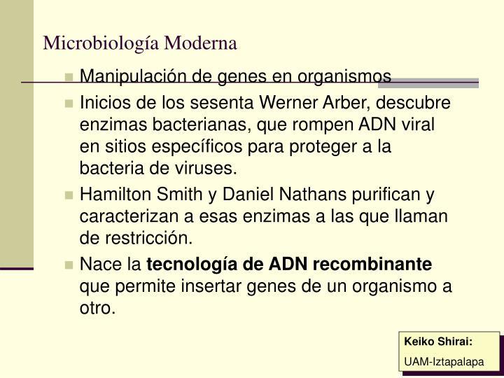 Microbiología Moderna