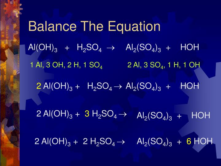 Balance The Equation