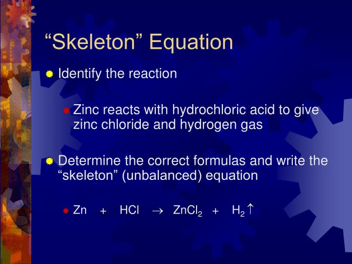"""Skeleton"" Equation"