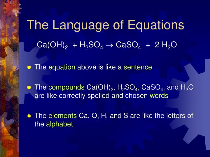 The Language of Equations