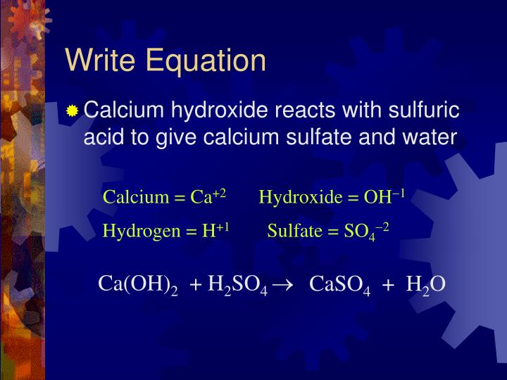 Write Equation