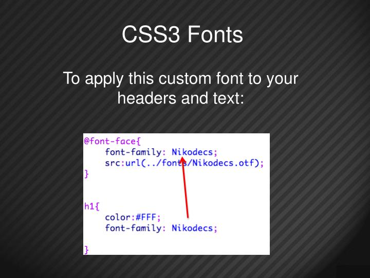 CSS3 Fonts