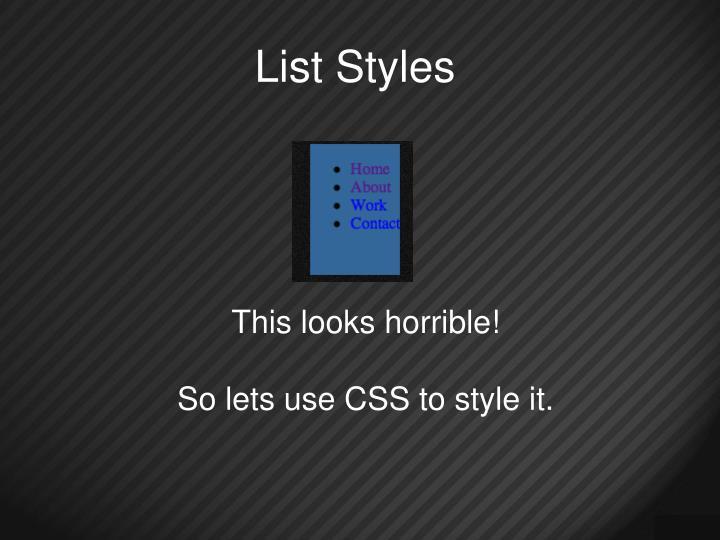 List Styles