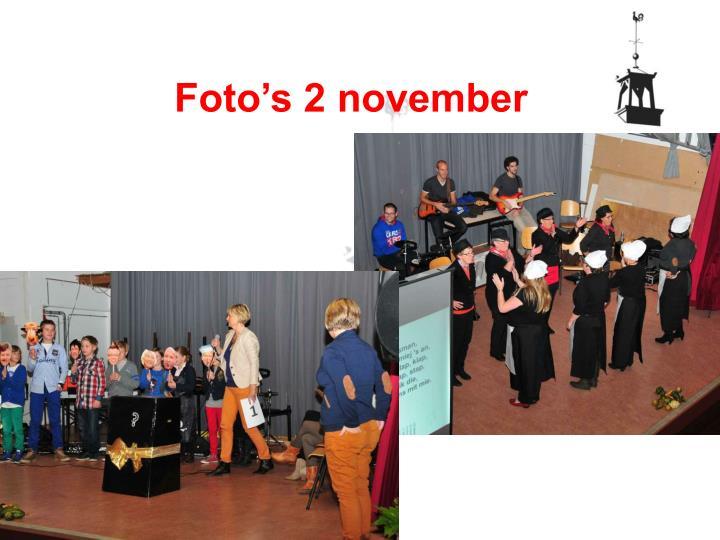 Foto's 2 november