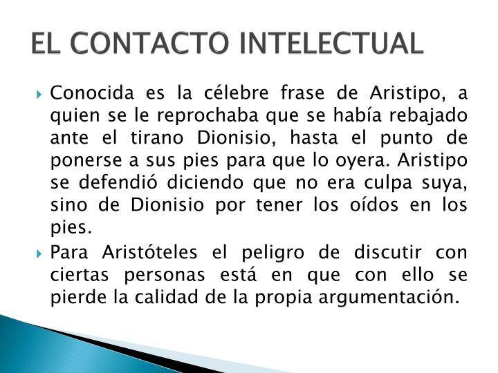 EL CONTACTO INTELECTUAL