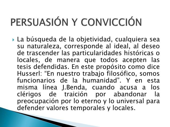 PERSUASIÓN Y CONVICCIÓN