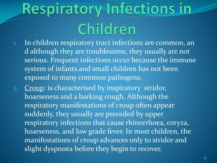 Respiratory Infections in Children