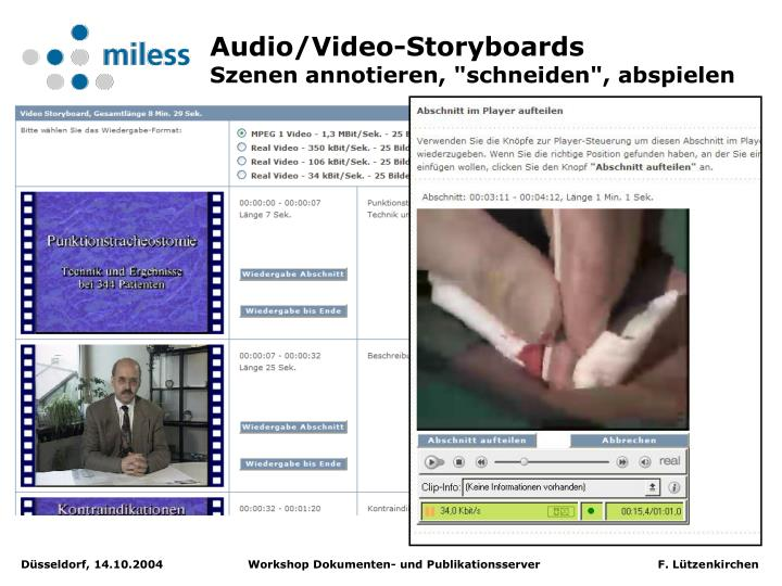 Audio/Video-Storyboards