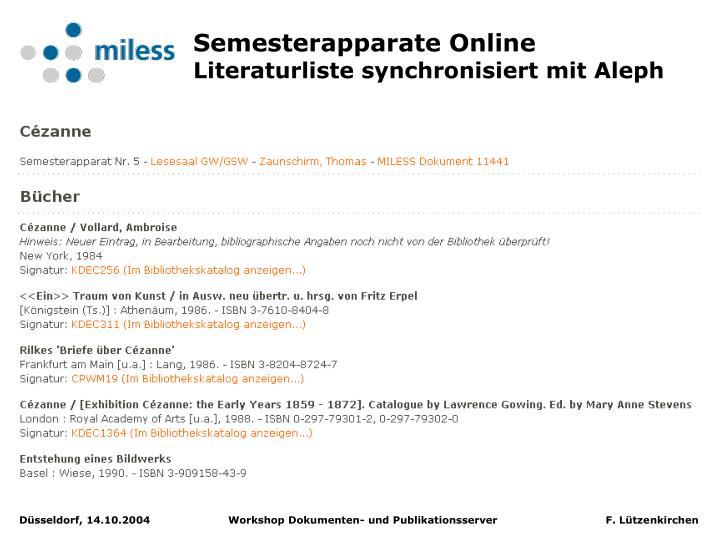 Semesterapparate Online
