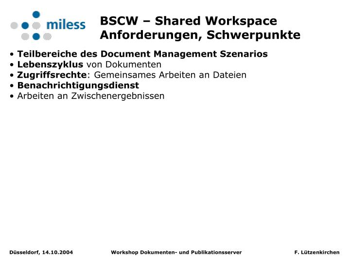 BSCW – Shared Workspace