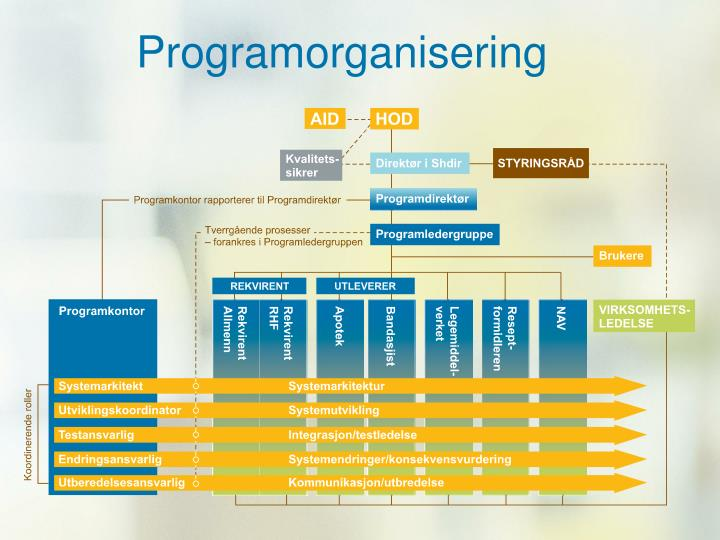 Programorganisering