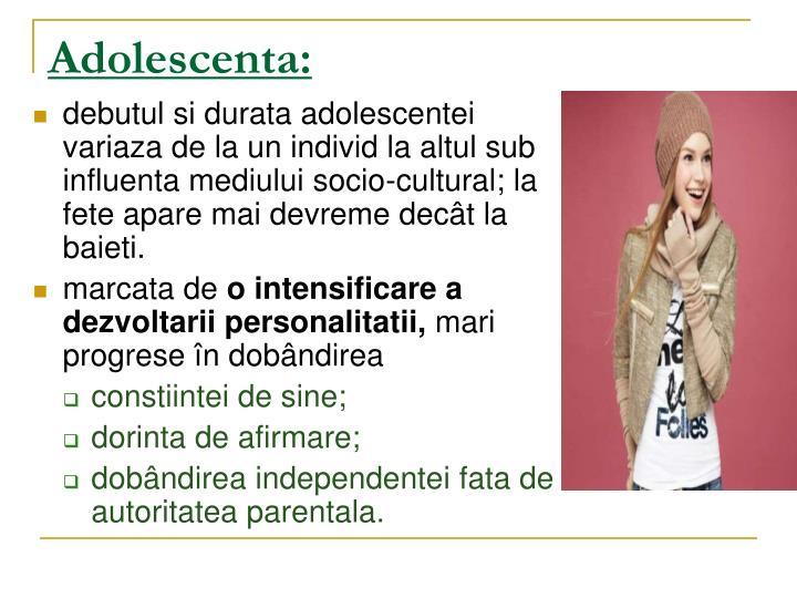 Adolescenta: