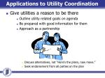 applications to utility coordination3