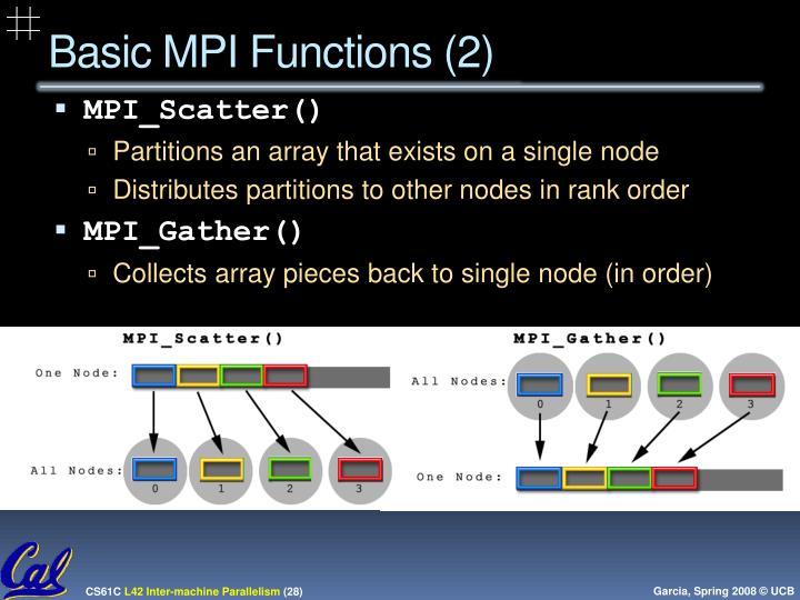 Basic MPI Functions (2)