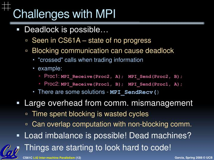 Challenges with MPI