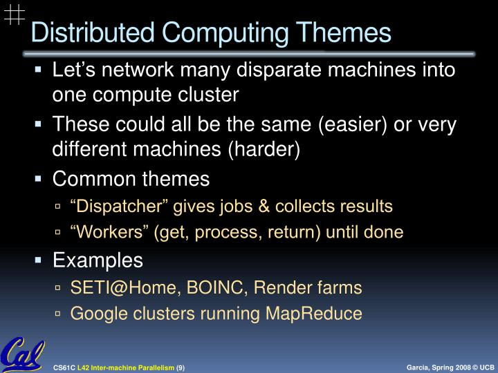Distributed Computing Themes