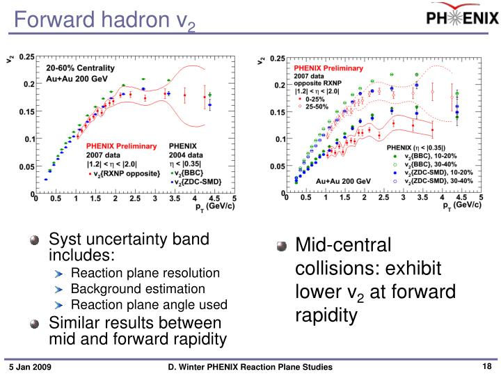 Forward hadron v