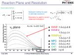 reaction plane and resolution