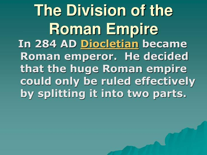 The division of the roman empire