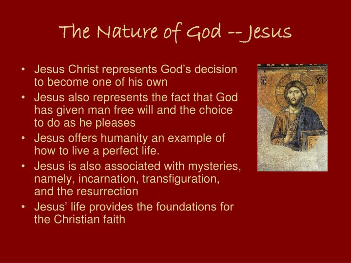 The Nature of God -- Jesus