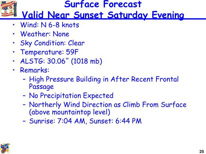 Surface Forecast