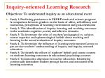 inquiry oriented learning research