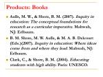 products books