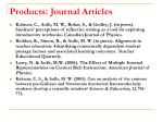 products journal articles