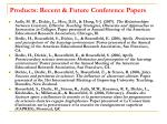 products recent future conference papers