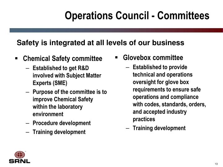 Chemical Safety committee